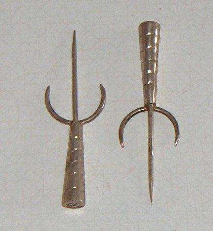 Vintage Taxco Sterling Silver Cocktail Forks / Spears - Set of 2