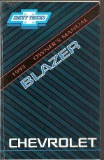 1995 Chevrolet Blazer Owners Manual