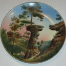 Vintage Handpainted Souvenir Plate - Stand Rock Dells of the Wisconsin for W. S. Blatchley