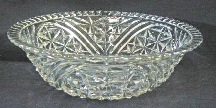 Vintage Anchor Hocking Stars & Bars / Thousand Line Salad Bowl