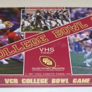 Vintage VCR College Bowl Game - College Football Assoc. 1987