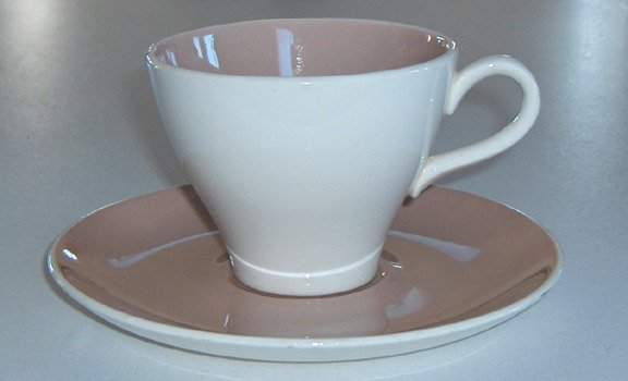 Vintage Harkerware Springtime Cup & Saucer (no flowers) Set of 3