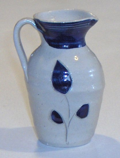 Williamsburg Pottery Factory Hand Made Handled Server or Vase