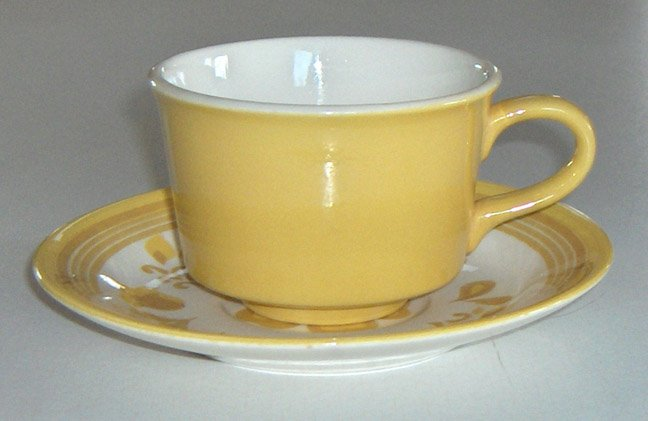 Vintage Royal China Ironstone Damsel Cup & Saucer Set of 4