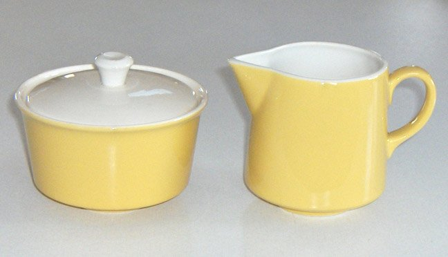 Vintage Royal China Ironstone Damsel Creamer & Sugar Bowl with Lid