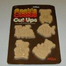 Vintage Hutzler Plastic Cookie Cut-Ups Cutters - Car, Train, Fish, Snowman, Bear - Original Pkg 1981