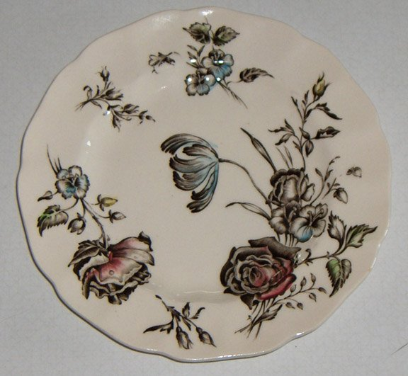 Vintage Johnson Brothers Day in June Multicolor Bread Plates - Set of 2