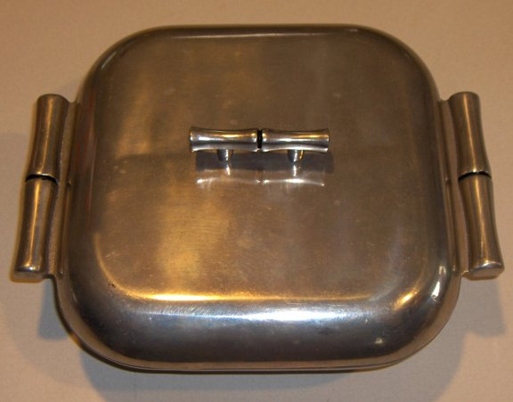 Vintage Bruce Fox Designs Wilton Cast Aluminum Serving Dish with Lid - 1982
