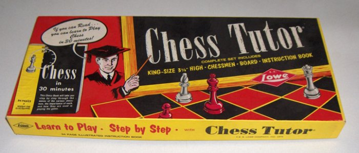 Vintage Chess Tutor #134 by E. S. Lowe Co. 1972