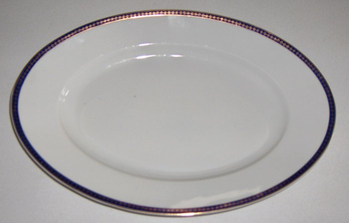 Vintage Cmielow Cobalt Blue Band with Gold Platter