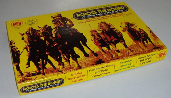 Vintage 1975 Across the Board Horse Racing Game MPH No. 00777