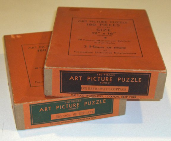 Vintage Tuco Workshop Non Interlocking Puzzles circa 1930s