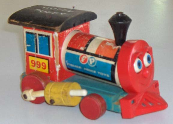 1963 Wooden Fisher Price Train Huffy Puffy 999