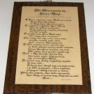 Vintage Religious Prayer Wall Plaque - Akt Ofiarowania sie Sercu Maryi - Poland