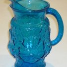 Vintage 1970s Anchor Hocking Laser Blue Rainflower 2 Qt. Pitcher