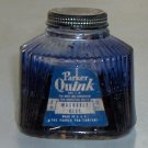 Vintage Parker Quink Washable Blue Ink 4 oz. Bottle circa 1940s