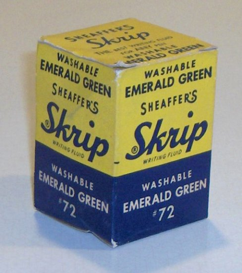 Vintage Schaefer Emerald Green Skrip Fountain Pen Ink
