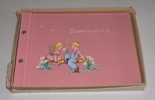 Vintage Childrens Photo Snapshot Scrap Book Album circa 1950s