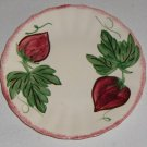 Vintage Blue Ridge Handpainted Strawberry Bread Plate Colonial Red