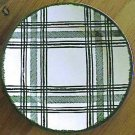 Vintage Royal China Bonnie Green Plaid Platter / Charger 12""