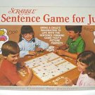 Vintage Scrabble Sentence Game for Juniors #23 1983