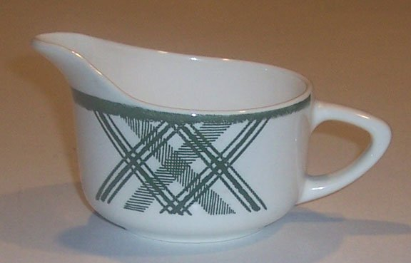 Vintage Royal China Bonnie Green Plaid Creamer