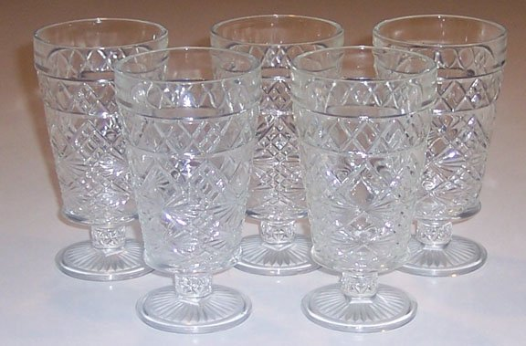 Vintage Hazel Atlas Big Top 10oz Tumblers Set of 6