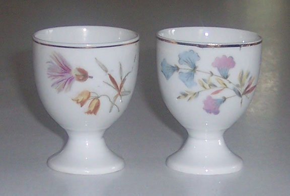 Vintage Floral Egg Cups - MIJ - Set of 2