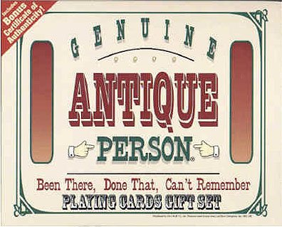 Genuine Antique Person Playing Cards Gift Set MIB