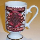 Vintage Royal Crown Zodiac Footed Mug Scorpio