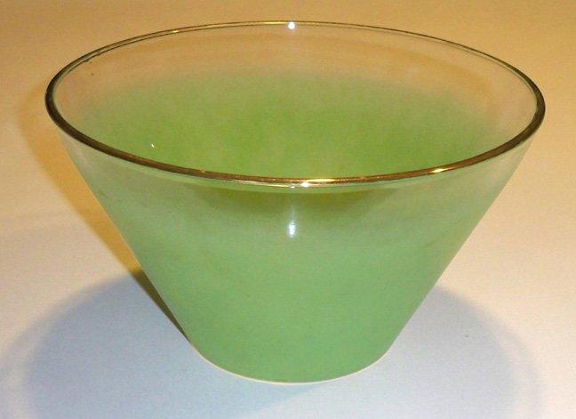 Vintage West Virginia FROSTED Green Salad Bowl - Blendo