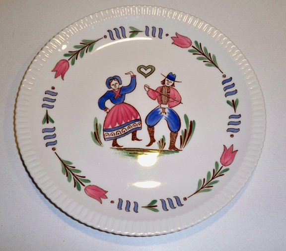 Vintage Syracuse China Shell Edge Lancaster Dinner Plate