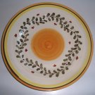 Sberna Deruta Italy Vine Yellow Center Dinner Plate - Set of 2