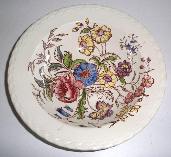 Vintage Vernon Ware May Flower Round Vegetable Bowl