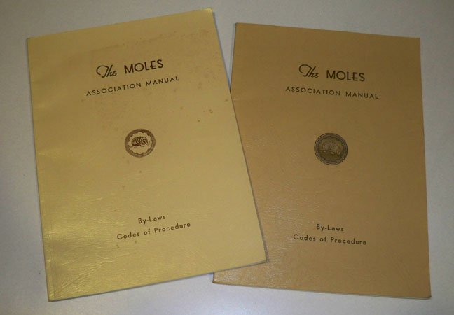 Vintage The Moles Association Manual By-Laws Codes of Procedure 1972 & 1984