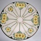 Vintage Royal Doulton #D3062 Art Nouveau Yellow Floral Dinner Plate