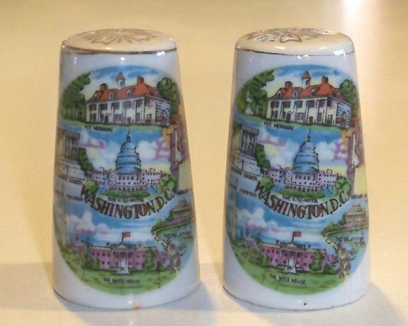 Vintage Souvenir Washington DC Salt and Pepper Shakers MIJ