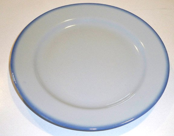 Vintage PT Tillowitz Brushed Blue Band Blue Grey Plate - Poland Set of 3