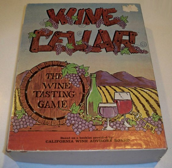 Vintage Wine Cellar The Wine Tasting Game Board Game 1971