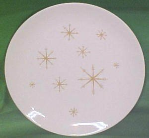 Vintage Royal China Star Glow Dinner Plate Set of 3