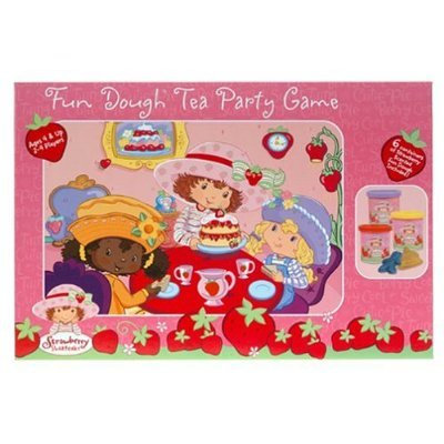 Strawberry Shortcake Fun Dough Tea Party Board Game RoseArt 2004 MIB