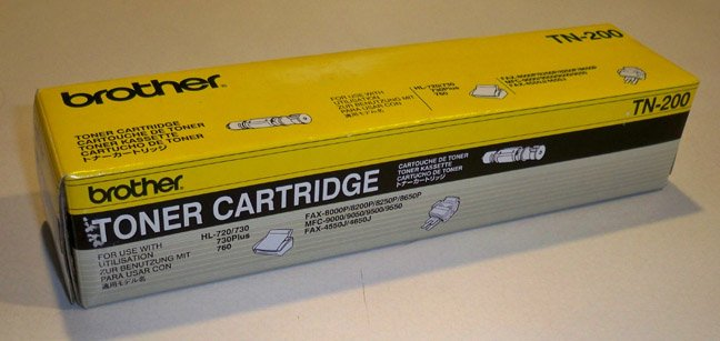 OEM Brother TN200 Black Toner Cartridge - Sealed