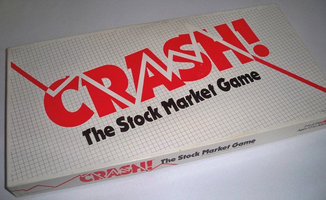 Vintage 1988 Marino Games Crash The Stock Market Game Board Game