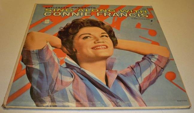 Vintage Brylcreem presents Sing Along With Connie Francis 33LP
