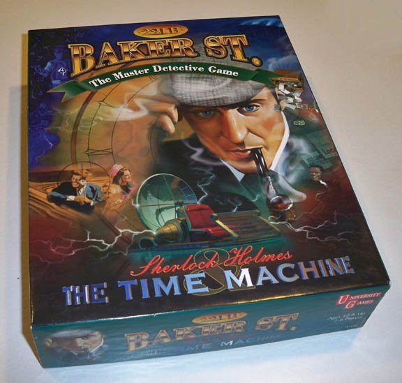 Vintage 1997 University Games 221B Baker St. Sherlock Holmes and the Time Machine Board Game