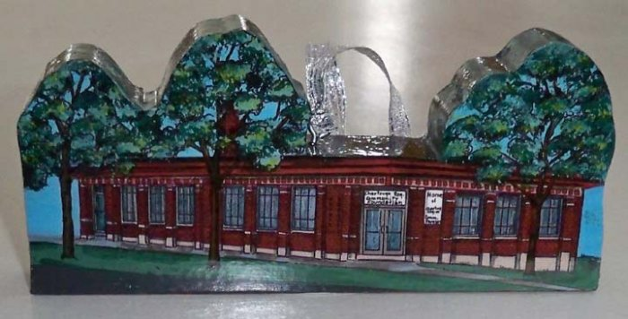 Vintage Chautauqua Regional Community Foundation Wood Miniature Building Ornament - Hand Painted