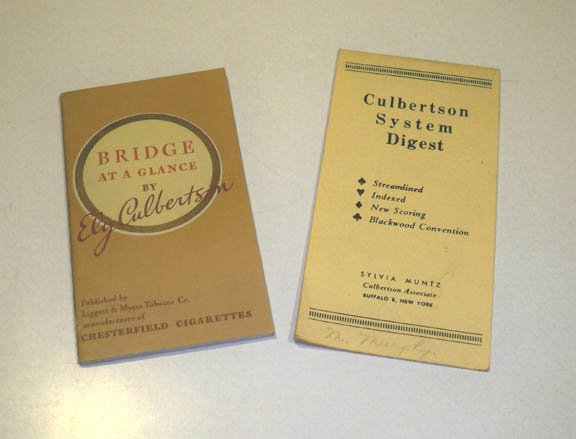 Vintage Bridge Guide Booklets - Chesterfield Bridge at a Glance by Ely Culbertson 1936