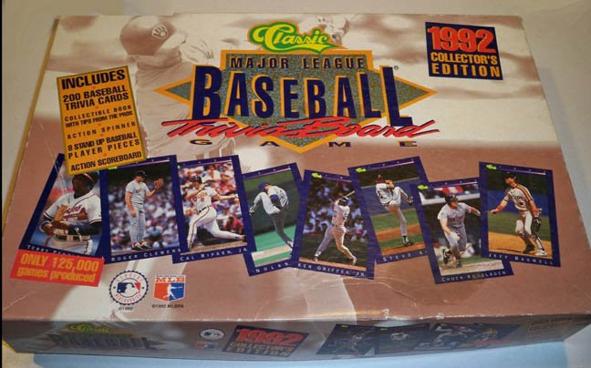 Vintage 1992 Classic Major League Baseball Trivia Board Game