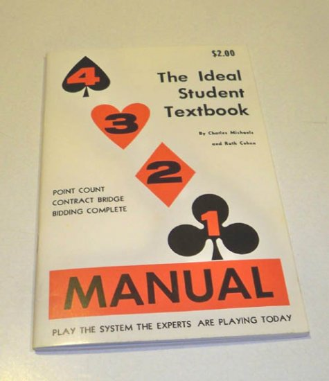 Vintage 4 3 2 1 Manual: The Ideal Student Textbook Contract Bridge - Michaels Cohen