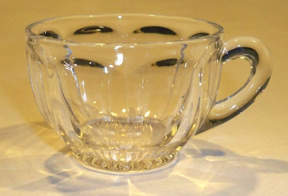 Vintage Footed Colonial Clear Punch Cup (Star) Set of 3